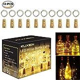 Flaschenlicht ,Led Flaschenlicht, Wein Flaschen Lichter, 10 Stück lichterketten für flaschen, 20LEDs flaschenlichterkette,LED Lichterketten...