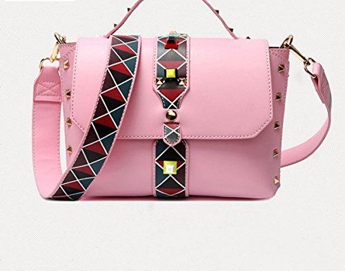 Weibliche tasche mode Niet handtasche Schulter messenger bag Rosa
