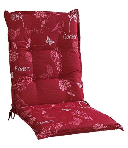 Sesselauflage Sitzpolster Gartenstuhlauflage für Mittellehner BABAI 5 | B 50 cm x L 110 cm | Rot |...
