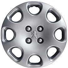 Aftermarket - Juego de 4 tapacubos, para ruedas de 15 pulgadas, para Peugeot ,