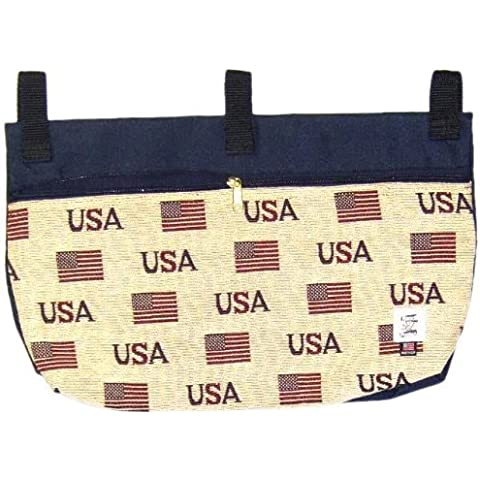 Handi Pockets 2c7us Storage Accessory Walker, Tapestry, USA with Zipper and Flap by Handi Pockets