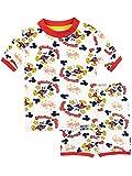 Disney Jungen Mickey Mouse Schlafanzug Weiß 116