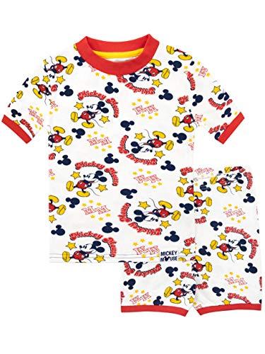 Disney Jungen Mickey Mouse Schlafanzug Weiß 104 -