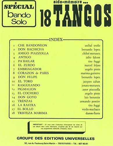 Éditions universellen Hilfe Speicher–18Tangos Spezial Bando Solo (Solo-speicher)