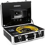 """oneConcept Inspex 3000 - Caméra d'inspection professionnelle pour travaux de plomberie (format valise avec moniteur LCD 7"""", enregistrement USB, 12 LEDs) - 30m de câble"""