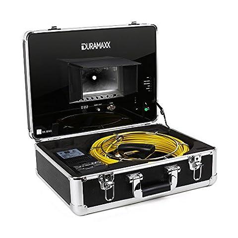 Duramaxx Inspex 4000 Caméra d'inspection professionnelle (pour accés difficiles, tuyauterie, format valise avec moniteur, LCD 7