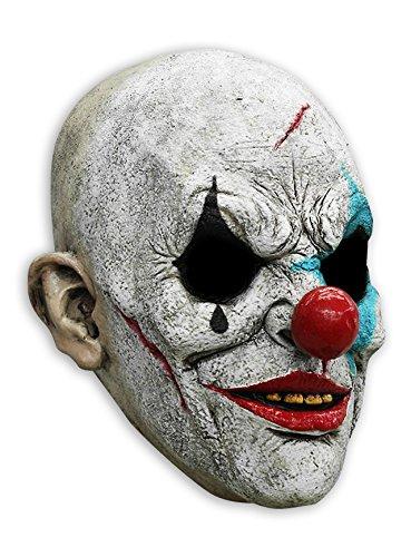 Horror Clown Vollmaske aus Latex in Universalgröße für (Kostüme Gesichter Halloween Bemalte)