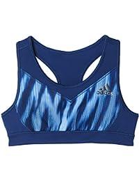 adidas YG TF Bra Sujetador Deportivo, Niña, Azul (Azumis), 140