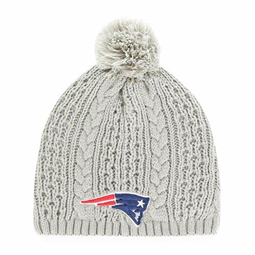 OTS NFL Damen Valerie Beanie Knit Cap mit Pom, Damen, Damen, NFL Women's Valerie Beanie Knit Cap with Pom, Women's, grau, Women's