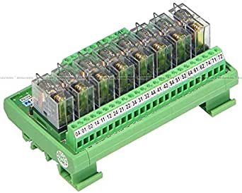 Shavison Relay Module AS254-24V-24V-OE, 8 Channel, 1 C/O Relay Module With TTL/Low Current Input, OEN Relay, Input : 24VDC@5mA (Type : PNP / Sourcing), Aux. (Coil) Voltage : 24VDC@25mA, Contact Rating : 5A@28VDC/230VAC
