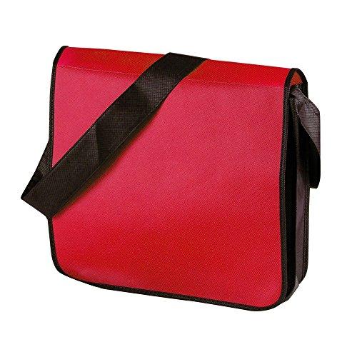 Jassz Bags - Borsa tipo messenger con tracolla Rosso/Nero