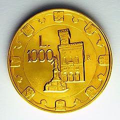 Idea Regalo - MONETA ORO 1000 LIRE SAN MARINO 1997 LEONE ARALDICO FDC