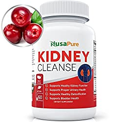 NusaPure Kidney Cleanse with Organic Cranberry Extract: Supports Bladder Control & Urinary Tract Health - 60 Capsules
