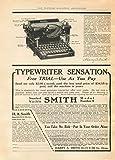 Vintage articoli di cancelleria e stampa SMITHS macchine da scrivere automatiche, U.S.A c1916 Cartolina illustrata, formato A3, 250 g/mq, riproduzione