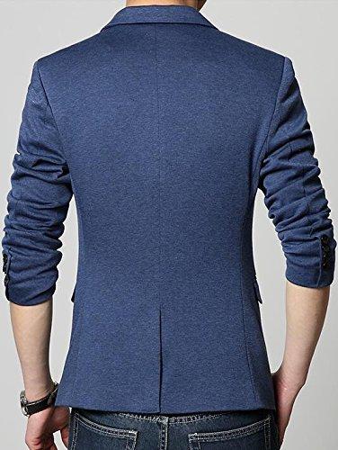 Laruise -  Giacca da abito  - Giacca caban - Basic - Classico  - Maniche lunghe  - Uomo Blu
