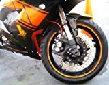 "Orange Reflective Wheel Rim Stripe Decal Tape Sticker For 16""-18"" Car Motorcycle"