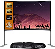 16:9 Projector Screen Stable Base Pipe Connection Home Theater Portable Outdoor Movie (120inch)