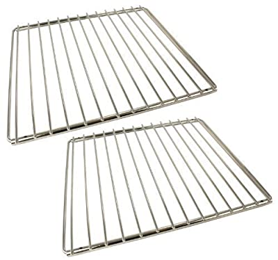 Universal Chrome Plated Adjustable Locking Arm Oven Cooker Shelves (Pack of 2) produced by First4spares - quick delivery from UK.