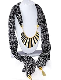 Trandy Stylish Skaff Pendant Stole Chiffon Scarves Neck Wraps Shawl Stylish Scarf Casual And Party Wear For Women... - B078QZPS4F