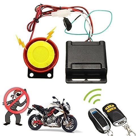 ducomi® Defender Kit Diebstahlschutz Sicherheit für Motorrad mit Doppel Fernbedienung Alarmsystem universal überwacht und schützt Ihre