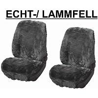 RAU Rlammfellpaar017 Schonbezug Paar Lammfell Anthrazit