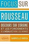 Rousseau Discours Sur l'Origine & les Fondements de l'Inégalité Parmi les Hommes par Radica