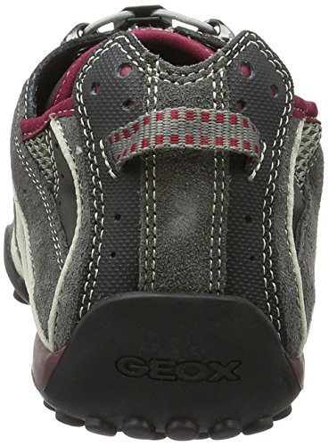 Geox Herren Uomo Snake J Low-Top Grau (Grey/bordeauxc1402)