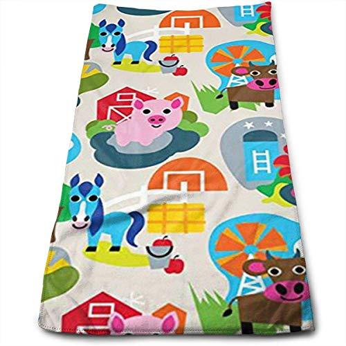 ewtretr Asciugamani Viso-Mani, Farm Animal Multi-Purpose Microfiber Towel Ultra Compact Super...