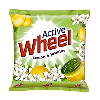 Active Wheel Detergent Powder - Lemon & Jasmine, 1kg Pouch