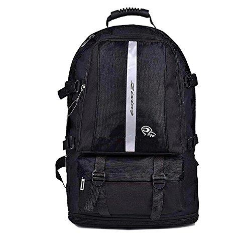 Laptop College School classique sac à dos léger Nylon Backpack Voyage Noir