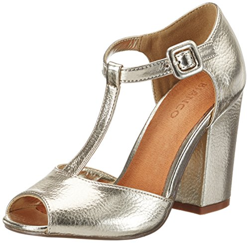 Bianco Damen Open Shoe with Lace 35-49239 Mary Jane Halbschuhe Gold (Gold)