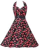 Elite99 Women's Sexy Sleeveless Vintage Style 1950's Halter Neck Party Dress