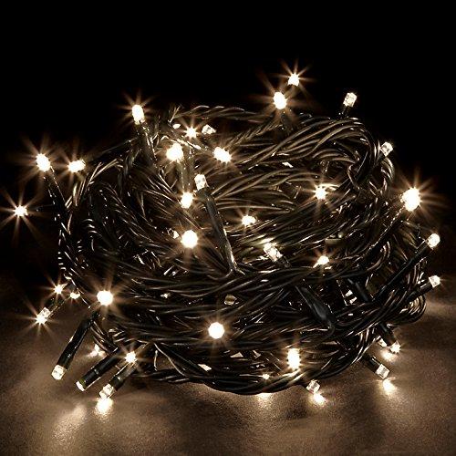 JnDeeTM Wasserdicht 100/200/300/400/500 LEDs 10M/20M/30M/40M/50M String Lichterkette für Weihnachtsbaum Party Hochzeits Events (8 Betriebsarten) Sichere Spannung (300LED 30M, Warm Weiss)