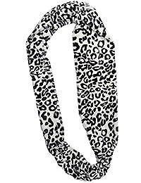 luxury fleecy super soft leopard print snood scarfs Leopard white
