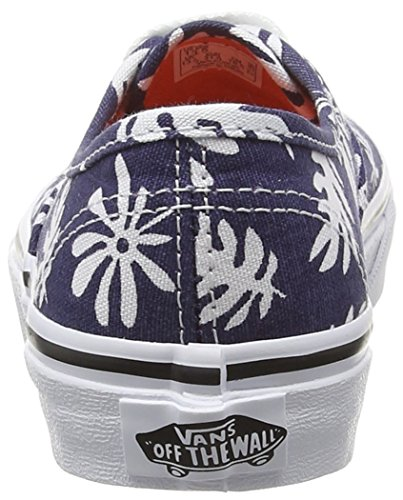 Vans Authentic, Baskets Basses Mixte Enfant Bleu (Washed Kelp/Navy/White)