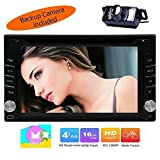 Beste Wifi Modell Android 6.0 Quad-Core 6,2 Zoll Touch-Screen-Universalauto-DVD-CD-Player GPS-Double 2 din Stereo GPS Navigation freie Kamera Karte und Fernbedienung