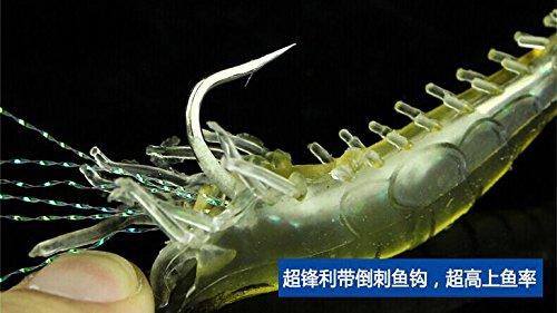 boldscript (TM) en caoutchouc souple appâts leurres Crevette Crap Leurre de pêche Bionic Swimbait Crankbait Pesca articles de pêche Outil Crochet claw-like yc186-sz
