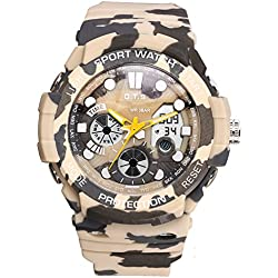 Dual sport watch/Waterproof digital watches/Simple casual watches-D