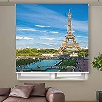 3D Roller Curtain Eiffel Tower in France 150 * 200 cm 9972