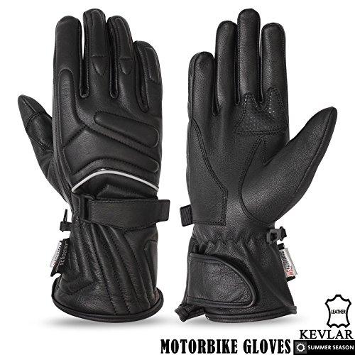 Herren Motorrad Leder Handschuhe Summer Light Gewicht Pure Ziege Haut Leder, Herren