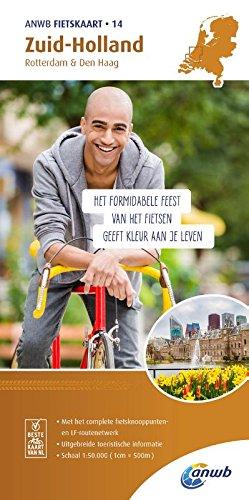 Radwanderkarte 14 Zuid Holland, Rotterdam & Den Haag 1:50 000 (ANWB fietskaart (14))