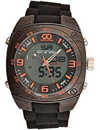 Gio Collection Analog-Digital Black Dial Men's Watch-GLED-2046FX