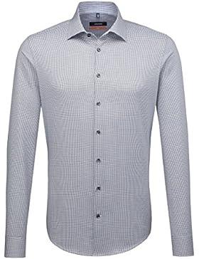 SEIDENSTICKER Herren Hemd Slim 1/1-Arm Karo City-Hemd Kent-Kragen Kombimanschette weitenverstellbar