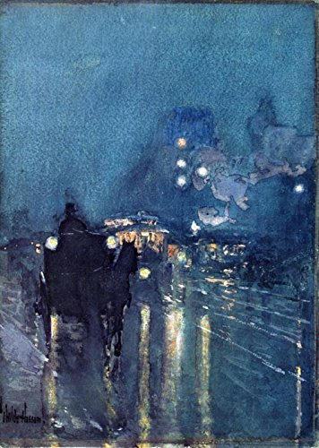 Das Museum Outlet-NOCTURNE, Bahnübergang, Chicago, 1892-93-A3Poster