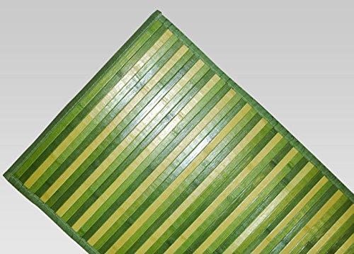 Tapis en bambou dégradé antidérapant 50x100 cm vert