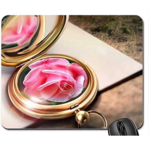 Medallion with a Rose Mouse Pad, Mousepad (Flowers Mouse Pad)