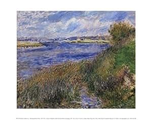 Pierre-Auguste Renoir – La Seine a Champrosay - Bords de la Seine à Champrosay Impression d'art Print (35,56 x 27,94 cm)
