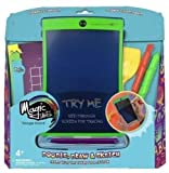 KENT DISPLAYS Boogie Board Magic Sketch Color LCD Writing Tablet + 4 Different Stylus 18 Stencils Drawing, Writing Tracing eWriter Ages 3+