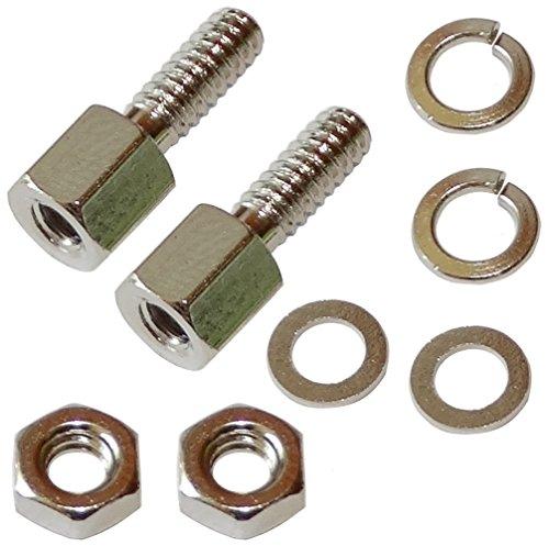 Preisvergleich Produktbild Aerzetix: 3 x Befestigungsset Schrauben 12, 5 mm Muttern für Anschluss Stecker D-Sub 9pin 15pin 25pin 37Pin