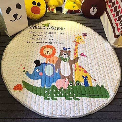 Bolsa de almacenamiento de juguetes Bebé grande Alfombras de bebé Alfombras redondas...